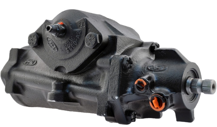 Power steering gear box.